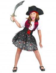 Bezaubernde-Piratenbraut Kostüm für Kinder bunt