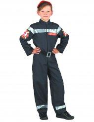 Feuerwehrmann-Kinderkostüm Uniform für Jungen blau