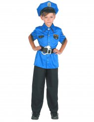 Polizei-Kinderkostüm Uniform schwarz-blau