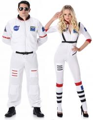 Astronauten Paar Kostüm für Erwachsene