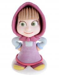 Mascha und der Bär™-Animationsfigur aus Zucker rosa-bunt 18,1g