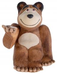 Mascha und der Bär™Kuchen-Figur aus Zucker Kindergeburtstag braun 15 g