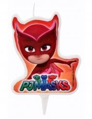 PJ Masks™-Kuchen-Kerze für Kindergeburtstage Eulette rot 7,2x6cm