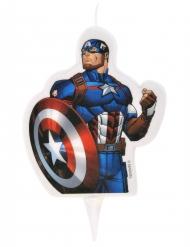 Captain America™ Geburtstagskerze Lizenzartikel bunt