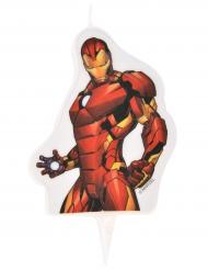 Iron Man™ Geburtstags-Kerze Kuchendeko rot 6x7,3cm