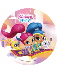 Shimmer & Shine essbare Kuchenauflage 21 cm