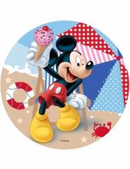Tortenaufleger Mickey™ am Strand 21 cm