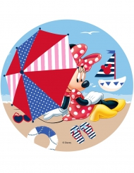 Tortenaufleger Minnie Mouse™ am Strand 21 cm