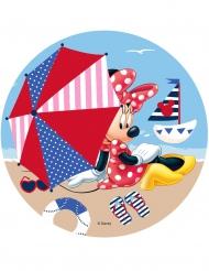Tortenaufleger Minnie Maus™ am Strand 21 cm