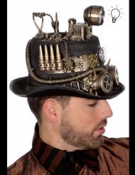 Steampunk Hut mit Stirnlampe für Erwachsene