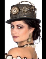 Steampunk Hut mit Uhr für Erwachsene