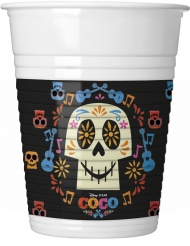 8 Plastikbecher Coco 200 ml bunt
