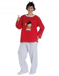 Fritzchen Mainzelmännchen™ Kostüm für Erwachsene weiß-rot