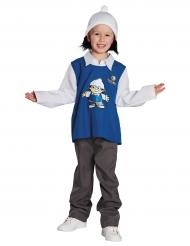 Det Mainzelmännchen™ Kostüm für Kinder blau-weiss-grau