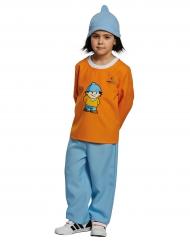 Conni Mainzelmännchen™ Kinderkostüm für Mädchen orange-blau