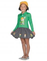 Berti Mainzelmännchen™ kostüm für Kinder grün-gelb-grau