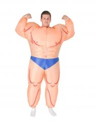 Aufblasbares Bodybuilder Kostüm für Erwachsene