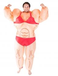 Aufblasbares Bodybuilderin Kostüm für Erwachsene