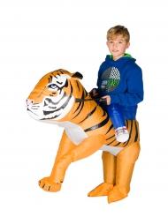 Aufblasbares Tiger Kostüm für Kinder