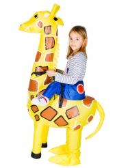 Aufblasbares Giraffen-Kostüm für Kinder