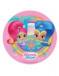 Shimmer and Shine Tortenaufleger rosa 20 cm