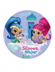 Shimmer and Shine Tortenaufleger in Blau 20 cm