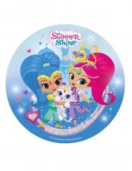 Shimmer and Shine Zuckerplatte 20 cm