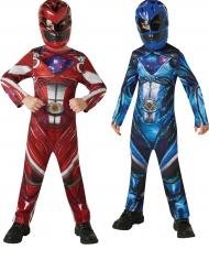 Power Rangers™-Kinderkostüm für Paare blau-rot