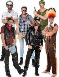 Gruppenkostüme für Herren Disco Stars