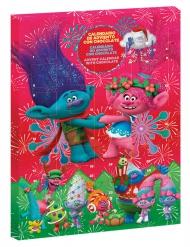 Weihnachtlicher Trolls™-Adventskalender für Kinder bunt 50g