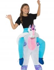 Einhorn Carry-Me Kostüm für Kinder bunt