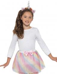 Einhorn-Kostüm-Set 2-teilig für Mädchen Pastell