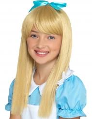 Prinzessinnen-Perücke für Mädchen Märchen blond-türkis
