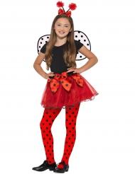 Marienkäfer Kostüm-Set für Kinder rot-schwarz
