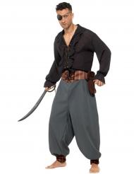 Piraten-Hose für Herren grau