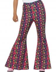 Hippie-Schlaghose Kostümzubehör für Damen bunt