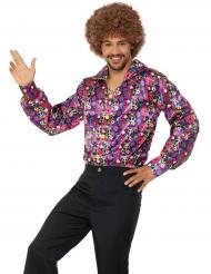 Hippie-Hemd Disco 70er-Jahre für Herren bunt