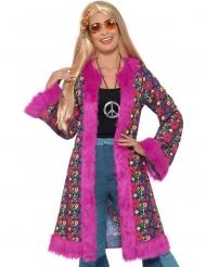 Hippie Mantel für Damen pink