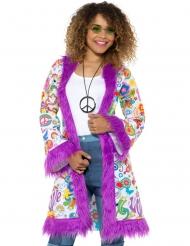60er Jahre Hippie Mantel für Damen lila