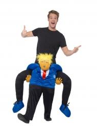 Lustiges Präsidenten-Carry Me Kostüm Huckepack-Verkleidung bunt