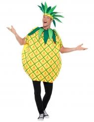 Knackiges Ananas-Kostüm für Erwachsene Obst gelb-grün