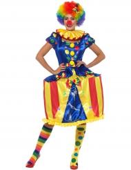 Clown Karussell Kostüm mit Licht für Damen