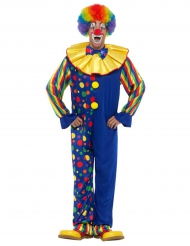 Clown-Kostüm für Erwachsene in blau