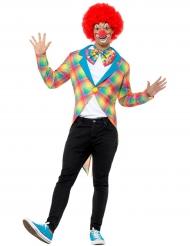 Clown Frack in Regenbogenfarben für Erwachsene