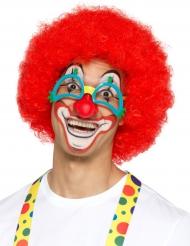 Lustige Clownsbrille mit Nase Zubehör Fasching bunt