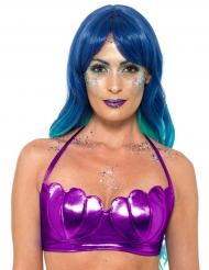Meerjungfrauen Bustier für Damen lila