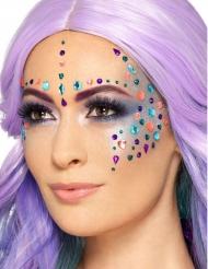 Selbstklebende Schmucksteine fürs Gesicht Glitzersteine bunt 100 Stück