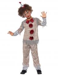 Vintage-Clown für Jungen Kinderkostüm grau-weiss-rot