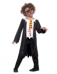 Zombie-Zauberlehrling Kinderkostüm Halloween bunt
