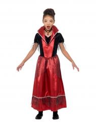 Elegante Vampirin Kinderkostüm für Halloween schwarz-rot